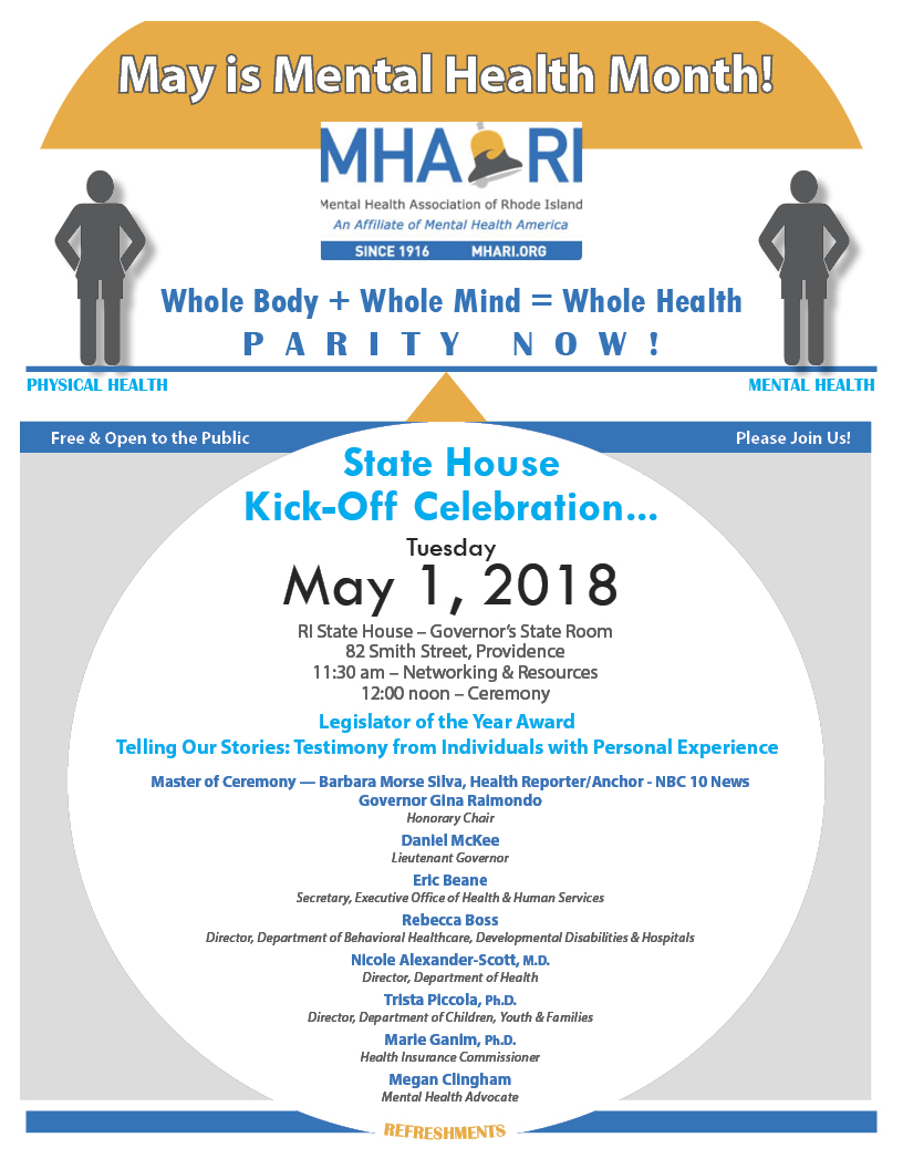 May Is Mental Health Month 2018 Flyer Mental Health Association Of